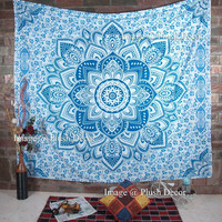 MyNelo Christmas Special- Plush Decor Exclusive Mandala Tapestry Ombre Bohemian Wall Hanging Wall Tapestries Mandala Beach Throw