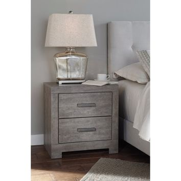 Signature Design by Ashley Culverbach Gray Two Drawer Night Stand | Overstock.com Shopping - The Best Deals on Nightstands