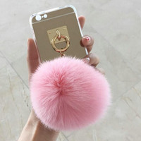 Fur and Mirror Protective iPhone 6, 6s, 6 Plus, 6s Plus Case Cover