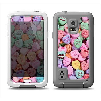 The Candy Worded Hearts Samsung Galaxy S5 LifeProof Fre Case Skin Set