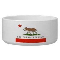 California Republic Pitbull Dog Bowl from Zazzle.com