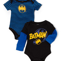 Black & Blue Batman Bodysuit Set - Infant | zulily