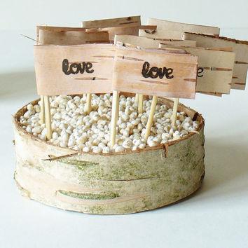 Wedding Cupcake Topper  Country Rustic Woodland by jadenrainspired