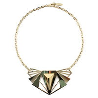 Romantic Armor Small Armor Necklace W/ Pyramid - Gold