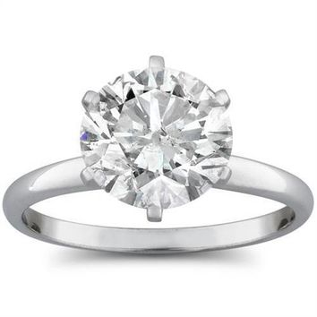 2 1/15ct Round Diamond Solitaire Engagement Ring