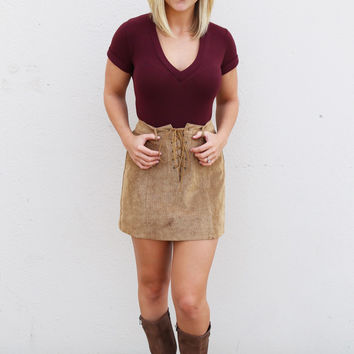 The Velma Skirt {Camel}