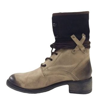 Matisse Mechanic Tan Floppy Combat Boots