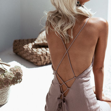 Taupe Zumi Dress - Dresses by Sabo Skirt