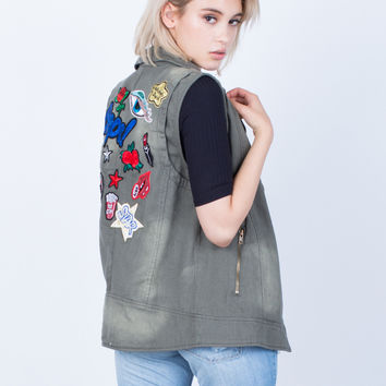 Exclusive Patched Vest