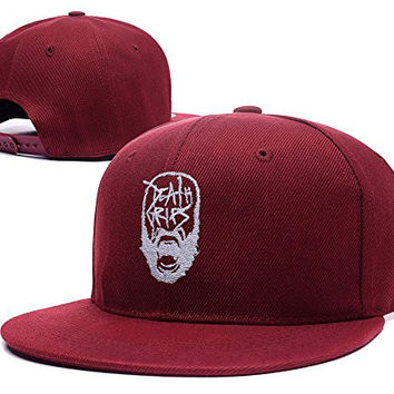 ZZZB Death Grips Mc Ride Graphic Logo Adjustable Snapback Embroidery Hats Caps - Red