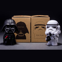 Star Wars The Force Awakens Black Knight Darth Vader&Stormtrooper Juguetes Action Figure Key Ring  Best Toy for Kid ZKSW2F