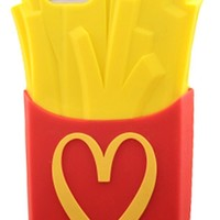 Lovestal Moschino Mcdonald 3D Fries Silicone Protective Case Case for Apple iPhone 5 5G 5S 5C---Red / Yellow
