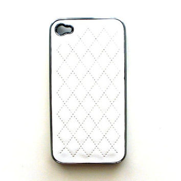 leather iphone case chanel for iphone white case iphone 4 iphone 4s iPhone 5
