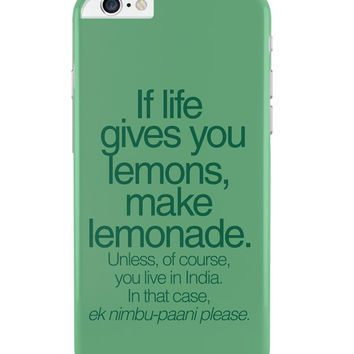 When Life Gives You Lemons Funny Quote iPhone 6 Plus / 6S Plus Cover