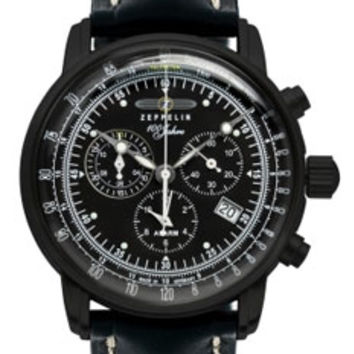 Graf Zeppelin 100 Years Alarm Chronograph Watch 7680-5