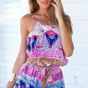 COLORFUL SEXY ROMPER JUMPSUIT
