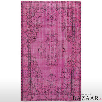 Pink Overdyed Rug 172x287 cm (5.64x9.42 ft)