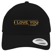 Star Wars - I Love You   Embroidered Cotton Twill Hat