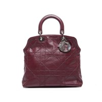 Pre-Owned Christian Dior Burgundy Leather Granville Bag