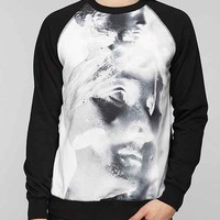 Deter Abstract Statues Pullover Sweatshirt-
