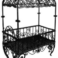 6 inch Handmade Vintage Victorian Canopy Style Black Décor Table Top Earrings Necklaces Bracelets Jewelry Holder / Organizer Stand / Display Rack