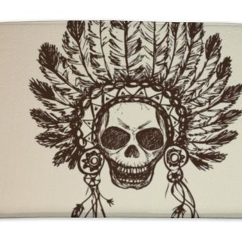 Bath Mat, Native American Indian Chief Headdress