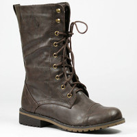Military Lace Up Mid Calf Combat Boot Nature Breeze Lug-11