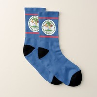 All Over Print Socks with Flag of Belize