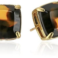 "kate spade new york ""Kate Spade Earrings"" Tortoise Small Square Stud Earrings"