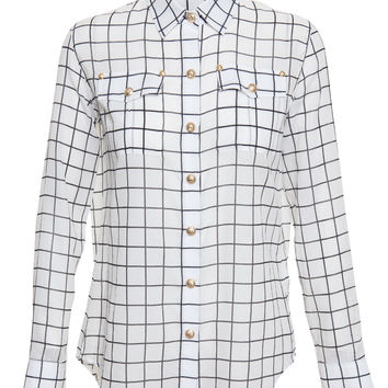 Checked Cotton Shirt - BALMAIN