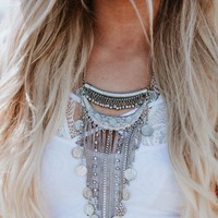 Jet Set Coin + Tassel Necklace
