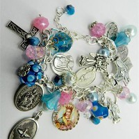 Catholic Charm Saints Holy Medal Religious Bracelet