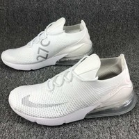 Nike Air Max 270 Nike Max 270 Knitting Flying Line Half Palm Shock Cushion Shockproof Sports Shoes F-CSXY white