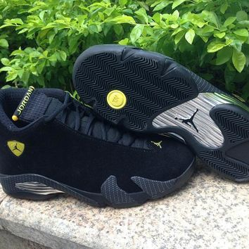 Air Jordan 14 Retro Aj14 Black Ferrari Sport Shoe