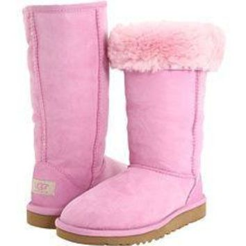 """""""UGG"""" Women Fashion Wool Snow Boots simple high boots Pink"""