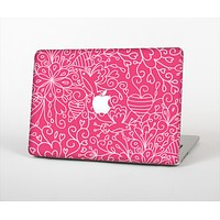 The Pink & White Abstract Illustration V3 Skin Set for the Apple MacBook Air 11""