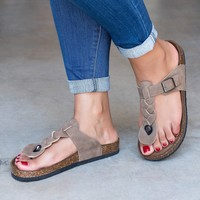 Braided Thong Footbed Sandals