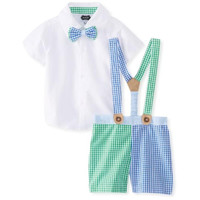 Mud Pie Infant Boys Gingham Short Outfit