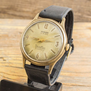 Vintage Anker Nivaflex watch, vintage swiss watch, mens watch