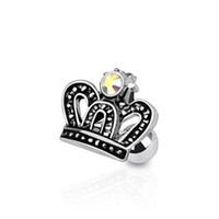 Royal Crown with CZ Tragus / Cartilage Earring