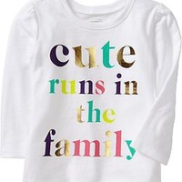 Long-Sleeve Graphic Tees for Baby