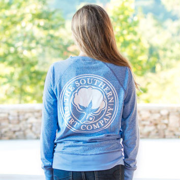 Vintage Heather Crew in Ultramarine by The Southern Shirt Co.