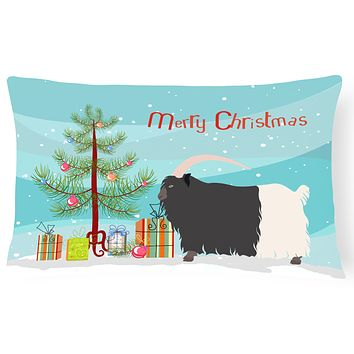 Welsh Black-Necked Goat Christmas Canvas Fabric Decorative Pillow BB9254PW1216