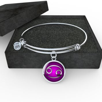 Zodiac Sign Cancer v2 - Bangle Bracelet