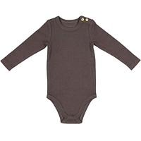 Lil Leggs Baby Charcoal Rib Onesuit