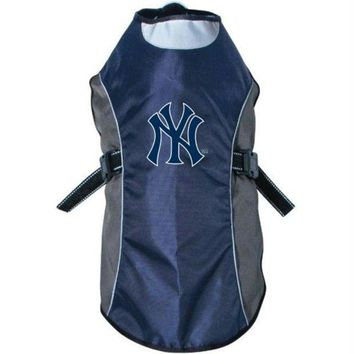 spbest New York Yankees Water Resistant Reflective Pet Jacket