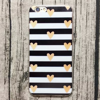 Heart-shaped Stripe iPhone 5s 6 6s Plus creative case + Gift Box-130