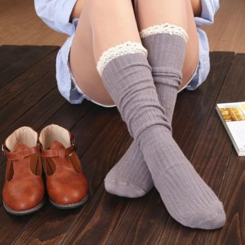 Lace women 's stockings Gaotong Gaotong socks
