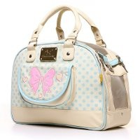 Wildlforlife Cute Polka Dot Princess Style Pet Tote Carrier for Cat and Small Dog (Blue)