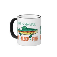 Funny Fishing Saying Ringer Coffee Mug